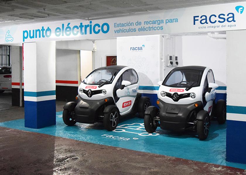 FACSA incorpora un punto de recarga para su flota de vehículos eléctricos