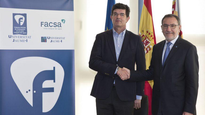 FACSA y la UJI crean la 'Cátedra de Innovación en el ciclo integral del agua'