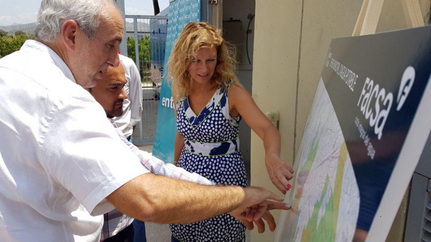 La alcaldesa de Castellón visita los pozos de abastecimiento de agua 'Camí Pedrera' y 'Aljibes', gestionados por FACSA