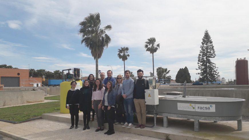 Los socios del proyecto MICROALBAC, liderado por FACSA, se reúnen en la EDAR de Castellón