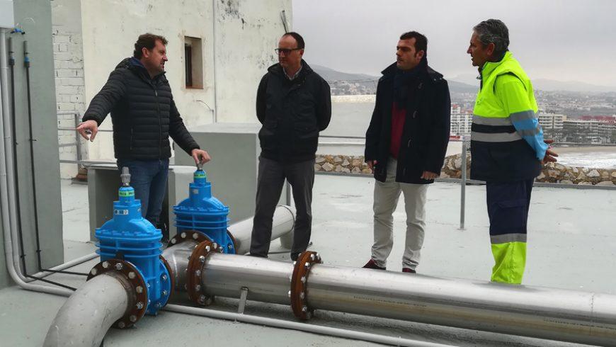 Peñíscola y FACSA renuevan el depósito de agua del casco antiguo de la ciudad
