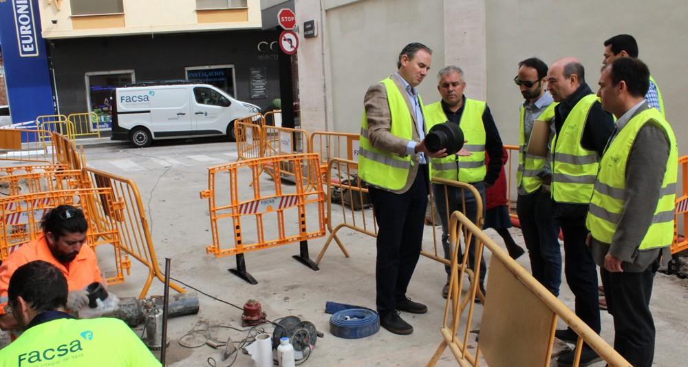 El Ayuntamiento de Borriana y FACSA inician los trabajos para renovar más de 4,3 kilómetros de las redes de agua potable y alcantarillado