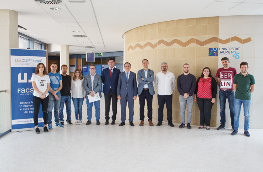FACSA y la UJI renuevan el convenio de la Cátedra FACSA de Innovación en el Ciclo Integral del Agua