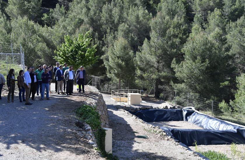 La Diputación Provincial y FACSA inauguran la depuradora del Castillo de Villamalefa