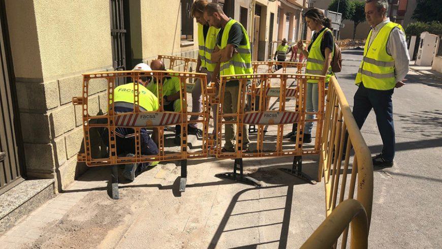 El Ayuntamiento de Almassora y FACSA renuevan los 2,5 kilómetros de red de agua potable de Corell