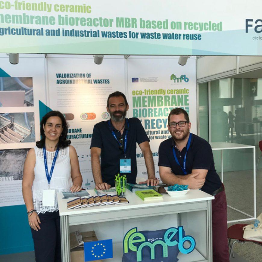 Expertos internacionales en tecnología de membranas se interesan por el biorreactor sostenible REMEB en Euromembrane 2018