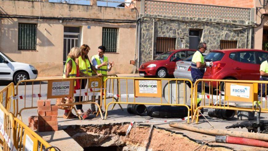 FACSA y el Ayuntamiento de Torreblanca instalan un nuevo colector de aguas pluviales en la calle Teruel