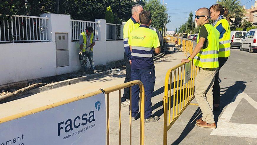 FACSA y el Ayuntamiento de Almassora renuevan la red de agua potable del distrito marítimo