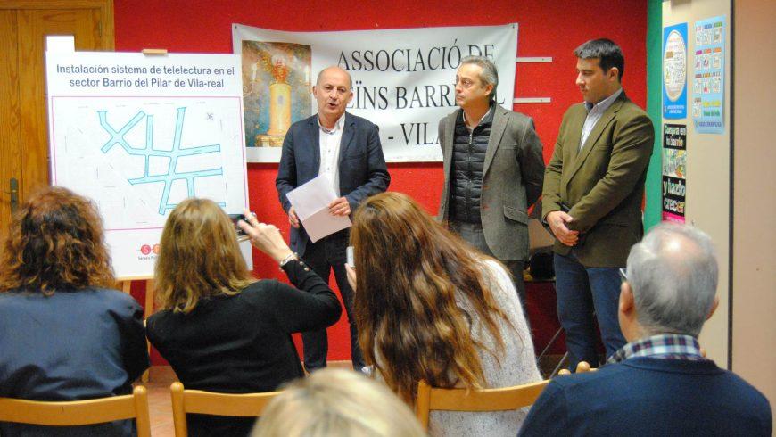 El Ayuntamiento de Vila-real y FACSA finalizan la instalación decontadores inteligentes en el barrio del Pilar