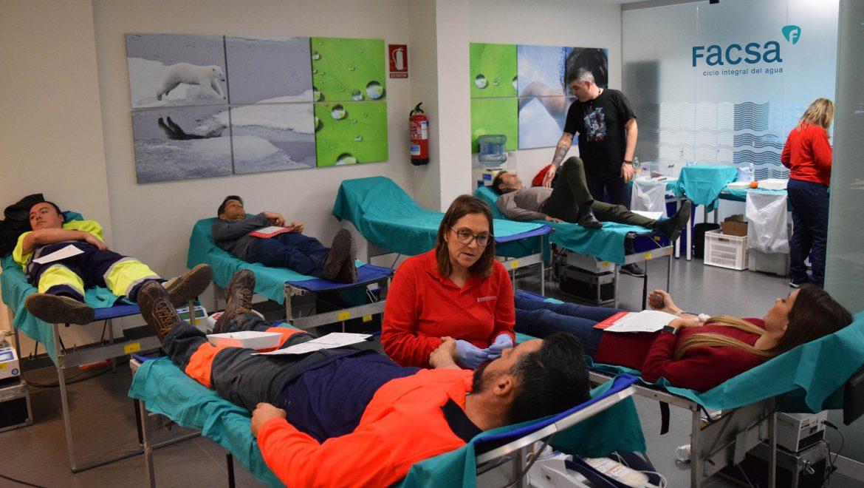 Éxito de participación en la I jornada de donación de sangre organizada por FACSA y el Centro de Transfusión de la Comunidad Valencian