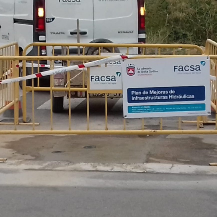 La Almunia de Doña Godina confía de nuevo a FACSA los trabajos de mejora de la red de agua potable
