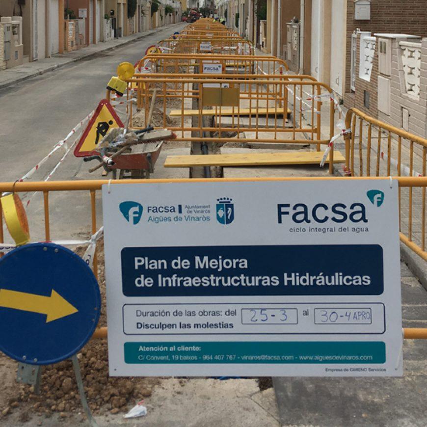FACSA y el Ayuntamiento de Vinaròs renuevan la red local de agua potable