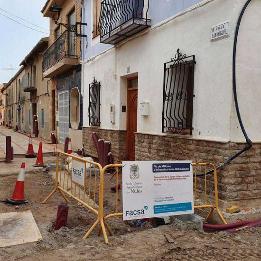 FACSA renueva la red de abastecimiento de agua potable de Mascarell