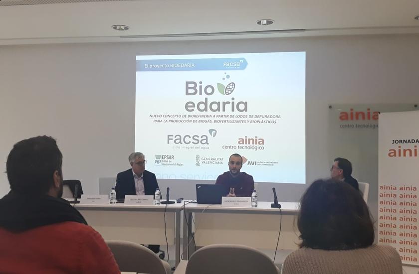 FACSA expone los avances del proyecto Bioedaria en la Jornada de Innovación de Ainia