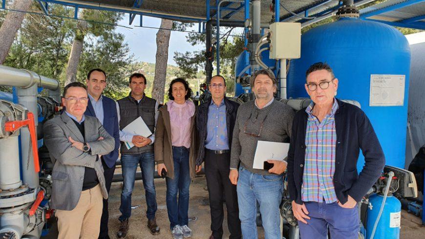 La alcaldesa de La Higueruela visita las instalaciones de potabilización de agua que FACSA gestiona en Betxí