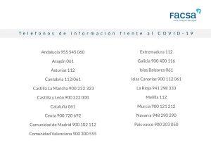 Teléfonos de información frente al COVID-19