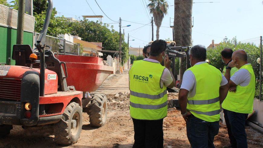 El Ayuntamiento de Burriana y FACSA mejoran los suministros públicos de la zona marítima de Burriana
