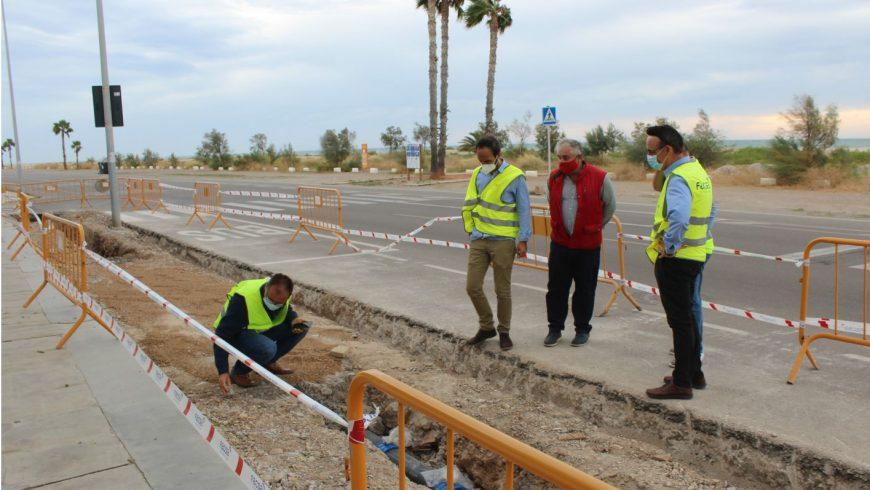 Burriana y FACSA avanzan en el Plan de renovación de las redes de abastecimiento y alcantarillado