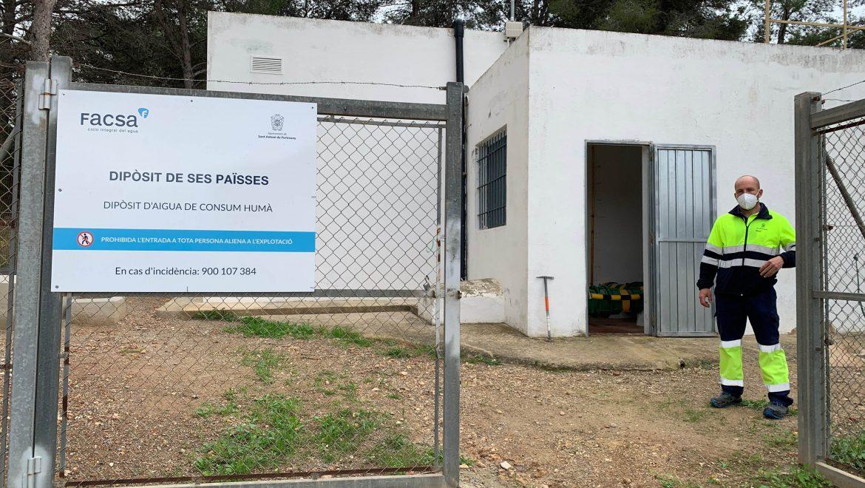 El Ayuntamiento de Sant Antoni y FACSA continúan trabajando en la optimización del servicio de abastecimiento de agua potable