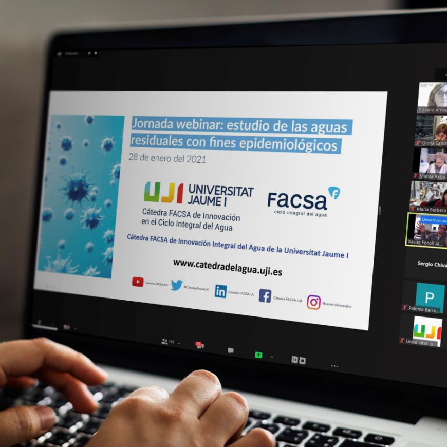 La Cátedra FACSA –UJI reúne a reconocidos expertos para poner en valor el agua residual como vía para mejorar la prevención y la salud pública en la pandemia del SARS-COV-2