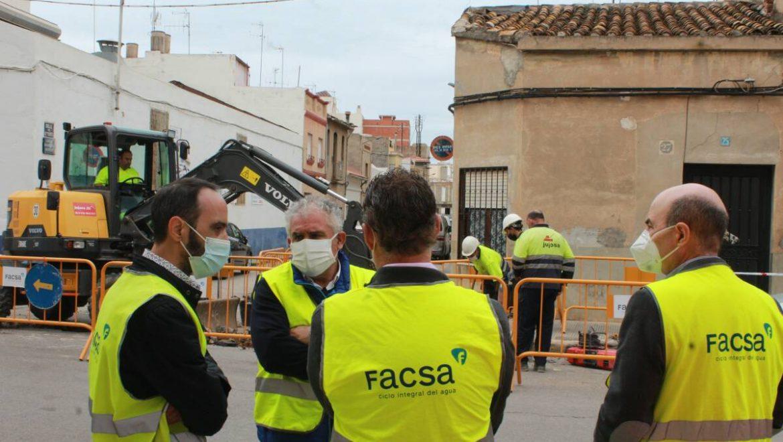 FACSA avanza en el Plan de renovación de las redes de abastecimiento y alcantarillado en varias calles de Burriana