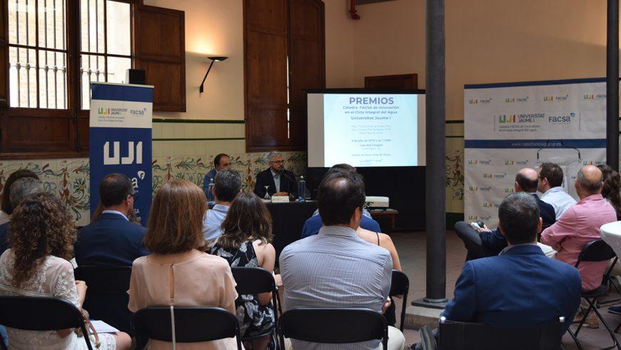 La Cátedra FACSA-UJI convoca la quinta edición de los premios a los mejores trabajos relacionados con el ciclo integral del agua