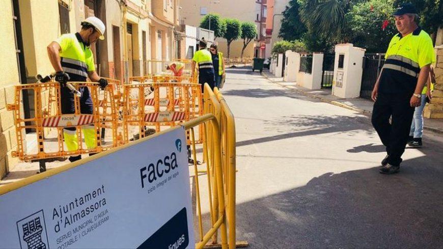 FACSA invertirá más de 200.000 euros en la renovación de la red de agua potable de Almassora