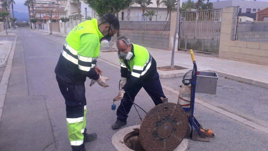 FACSA y el Ayuntamiento de Xilxes activan la campaña especial de control de plagas en la red municipal de alcantarillado