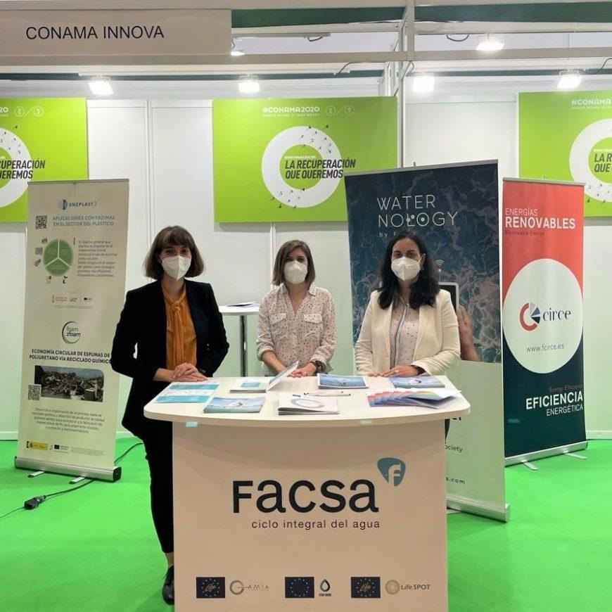 FACSA comparte su apuesta por la innovación y la economía circular en el sector del agua en Conama 2020