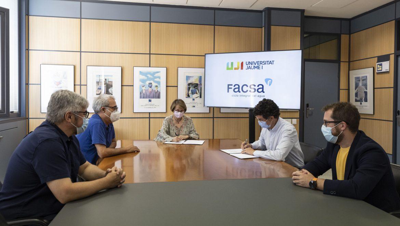 FACSA y la UJI renuevan el convenio para la Cátedra FACSA de Innovación en el Ciclo Integral del Agua