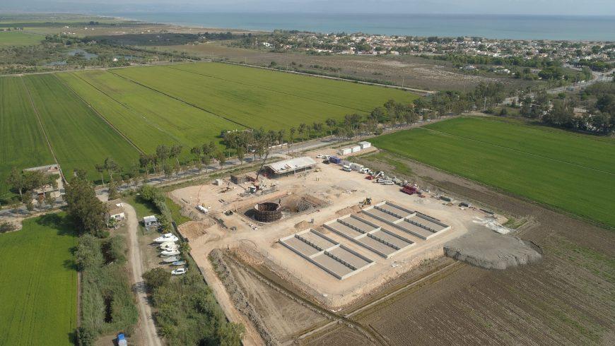 La UTE FACSA-CALAF avanza las obras de la nueva depuradora de RIUMAR en Deltebre